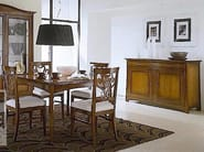 Extending solid wood table NAIMA | Square table - Arvestyle