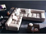 Corner upholstered fabric sofa NAP | Corner sofa - arflex
