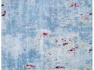 Patterned handmade rectangular rug NEBULA HORIZON - EDITION BOUGAINVILLE