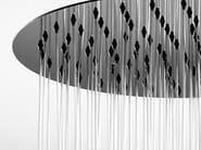 Floor standing shower panel with overhead shower Nek Floor Ø 300 - Bossini