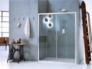 Niche glass shower cabin with sliding door NEW CLAIRE - 3 - INDA®