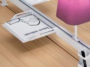 Set da scrivania in acciaio verniciato a polvere NEW WAVE - MANADE