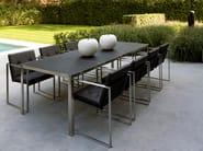 Rectangular stainless steel garden table NIMIO | Garden table - FueraDentro