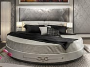 Leather double bed with upholstered headboard NOTTING HILL | Bed - Formitalia Group