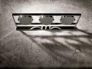 Soffione a muro a pioggia in acciaio inox NU F2850 - FIMA Carlo Frattini