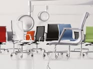 Cantilever reception chair with armrests NULITE | Cantilever chair - Luxy