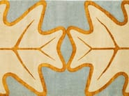 Handmade rectangular rug OAKLEAF - Deirdre Dyson