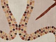 Handmade rectangular rug OAKLEAF MOSAIC - Deirdre Dyson