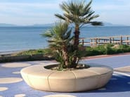 Round backless Bench with Integrated Planter OLIMPO - Bellitalia