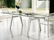 Extending wood and glass table OMEGA - Pacini & Cappellini