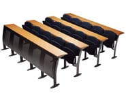 Modular bench desk with integrated chairs OMNIA - Ares Line