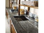 Cucina componibile in legno massello con isola OPERÀ - COMPOSIZIONE 02 - Marchi Cucine