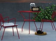 Round metal garden table OPLÀ | Round table - Imperial Line