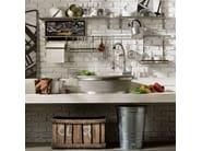 Cucina componibile in legno massello con penisola PANAMERA - COMPOSIZIONE 01 - Marchi Cucine
