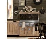Cucina componibile in legno massello PANAMERA - COMPOSIZIONE 02 - Marchi Cucine