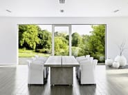 Aluminium and wood patio door PANORAMA HX 300 - INTERNORM Italia