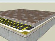 Radiant floor panel PANTHE FORM - PANTHERM