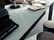 Extending rectangular glass table PAPIRO | Glass table - Fimar