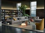 Corner sectional fabric sofa PARIS-SEOUL | Corner sofa - Poliform
