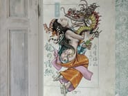 Panoramic wallpaper PASSIONE DEL DRAGO - Inkiostro Bianco
