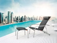 Recliner deck chair with armrests PENTHOUSE | Deck chair - solpuri