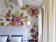 Panoramic wallpaper with floral pattern PETITE PROVENCE - Inkiostro Bianco