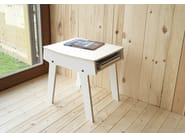Low coffee table with integrated magazine rack PI STOOL - rform