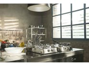 Gas countertop stainless steel hob PIANI COTTURA RIBALTABILI A 2 FUOCHI GAS | Stainless steel hob - ALPES-INOX