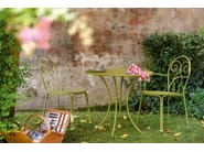 Round steel garden table PIGALLE | Round table - EMU Group S.p.A.