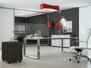 Rectangular crystal office desk PITAGORA PV20/PV22 - Arcadia Componibili - Gruppo Penta