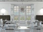 L-shaped crystal office desk PITAGORA PVDV20 - Arcadia Componibili - Gruppo Penta