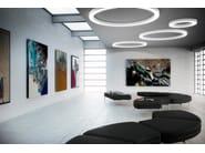 Aluminium wall lamp / ceiling lamp SILVER RING | Wall lamp - PANZERI