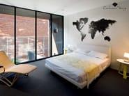 Contemporary style wall-mounted steel clock PLANISFERO L | Clock - Carluccio Design