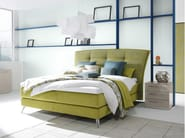 Fabric double bed with tufted headboard PLENUS - Hülsta-Werke Hüls
