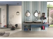 Indoor white-paste wall tiles COUTURE Plume - Impronta Ceramiche by Italgraniti Group