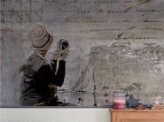 Panoramic writing wallpaper POEM - Inkiostro Bianco
