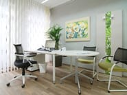 Swivel task chair with 5-Spoke base with armrests POINT | Task chair with 5-Spoke base - Wiesner-Hager