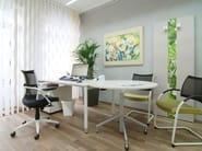 Sedia ufficio operativa girevole a 5 razze con braccioli POINT | Sedia ufficio operativa a 5 razze - Wiesner-Hager