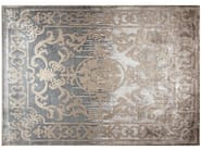 Patterned handmade custom wool rug POMPADOUR SHADOW - EDITION BOUGAINVILLE