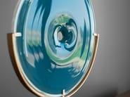 Blown glass decorative object POOL OBJECT (BRASS) - SkLO