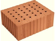 Loadbearing clay block for reinforced masonry Porotherm Sonico - WIENERBERGER