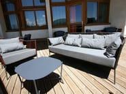Square aluminium garden side table PORTOFINO | Coffee table - Sérénité Luxury Monaco