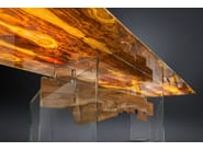 Rectangular wood and glass table PORTOFINO | Rectangular table - VGnewtrend