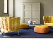 Upholstered pouf with removable lining SMILE | Pouf - Paola Lenti