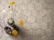 Full-body porcelain stoneware wall/floor tiles with concrete effect POWDER - MARAZZI