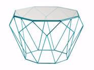 Tavolino ottagonale in acciaio e vetro PRECIOUS - ROCHE BOBOIS