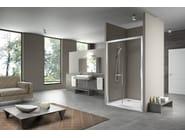 Niche glass and aluminium shower cabin STILA 2000 - DUKA