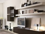 Wall-mounted lacquered storage wall LALTROGIORNO 823 - TUMIDEI