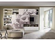 Lacquered TV wall system LALTROGIORNO 863 - TUMIDEI