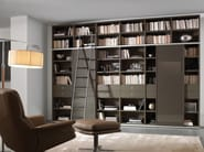 Wall-mounted lacquered bookcase with drawers LALTROGIORNO 868 - TUMIDEI